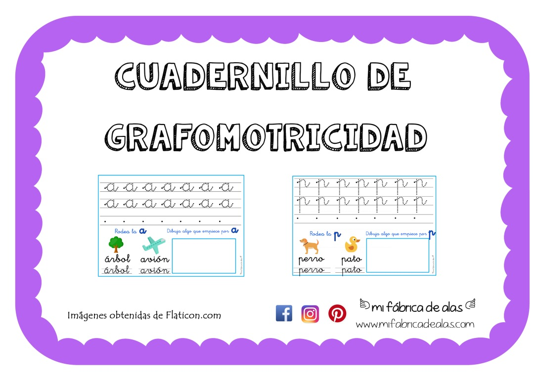 Cuaderno grafomotricidad LETRAS