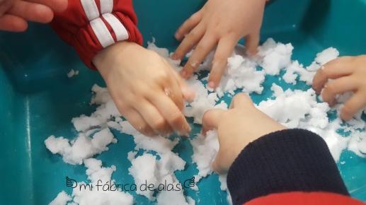 nieve experimento